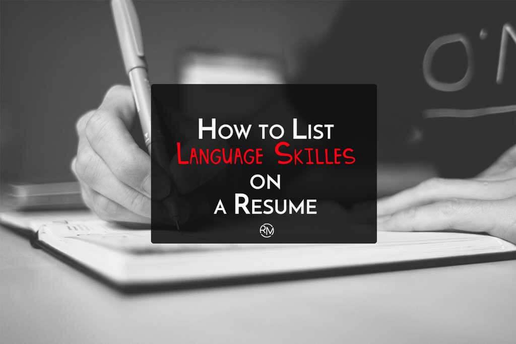 how to list language skills on resume