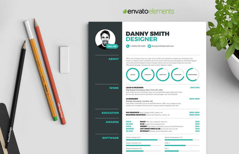 5 Pages Infographic Resume Template Resumes Mag