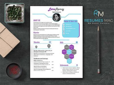 Lilac-Two-Pages-Soft-Infographic-Resume-Template