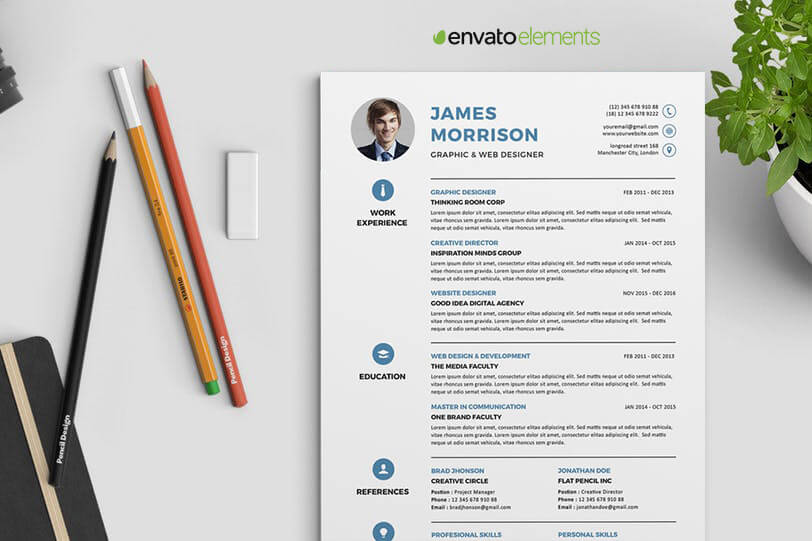Professional Clean Resume Template - Resumes Mag.