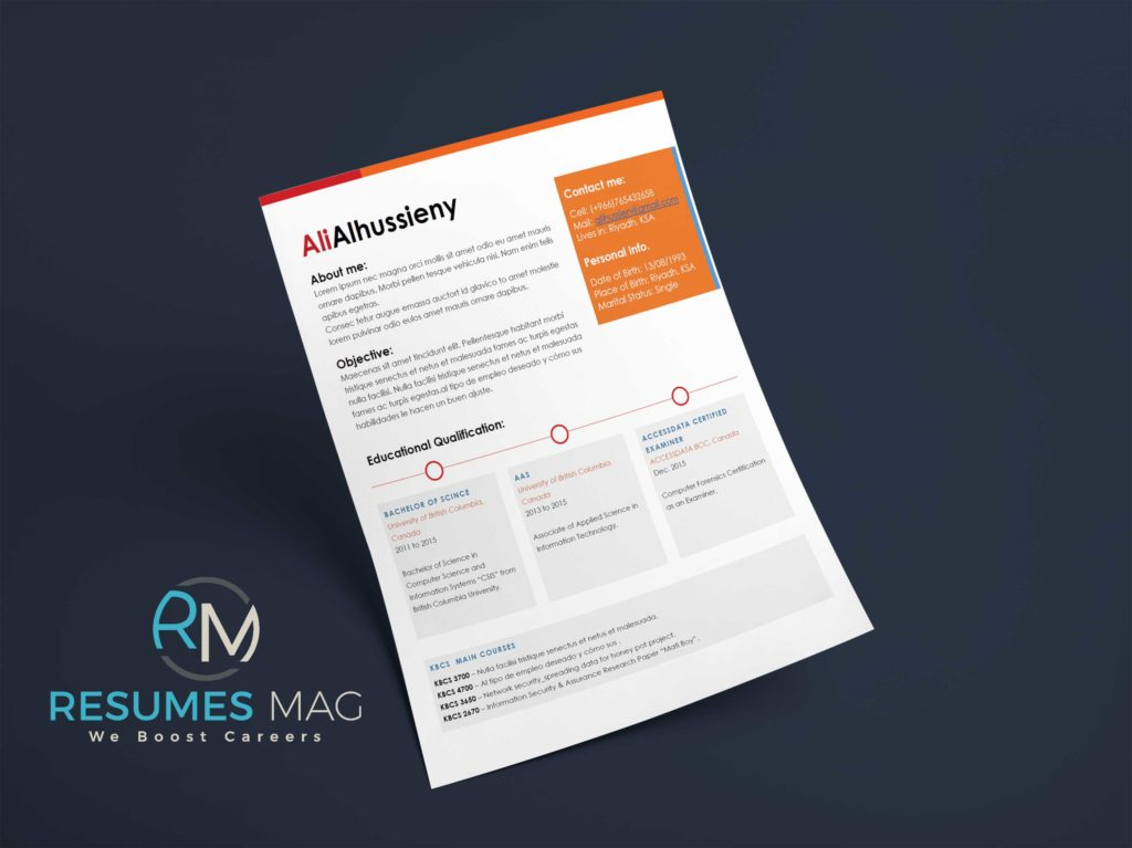 Caren   Two Page Resume Template   Resumes Mag | Resume Templates Service