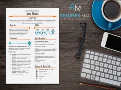 Hola - One Page Infographic Resume Template