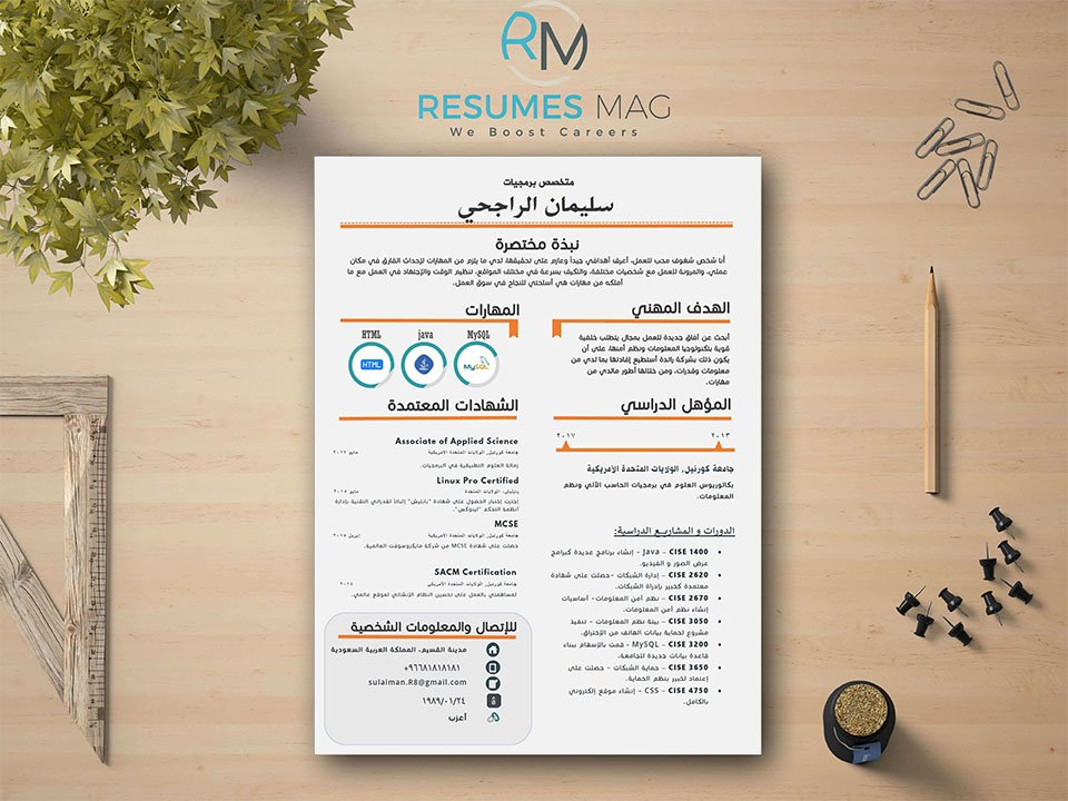 Echo  Beautiful Editable Arabic Resume Template  Resumes Mag