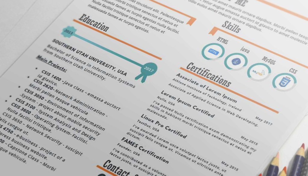 Hola One Page Infographic Resume Template Resumes Mag Resume