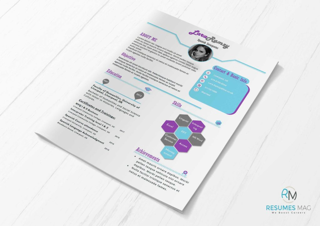 Lilac  Two Pages Soft Infographic Resume Template  Resumes Mag