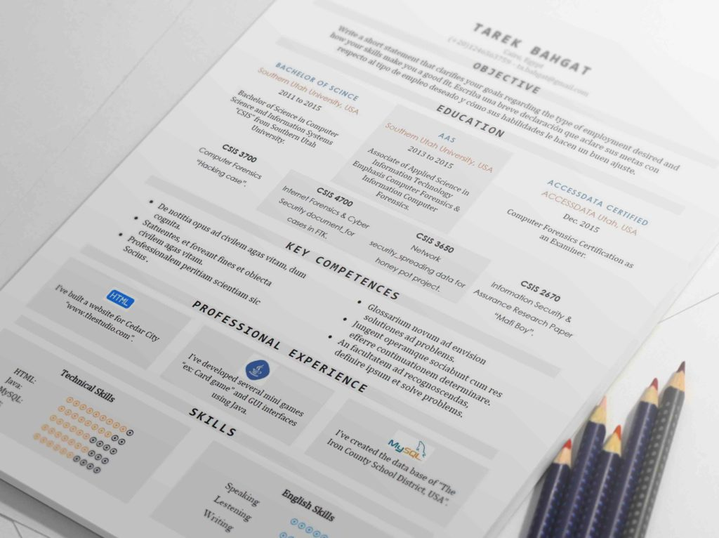Tabula  Well Organized One Page Resume Template  Resumes Mag