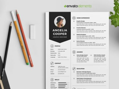 Professional Clean Resume Template 2 - Envato Elements