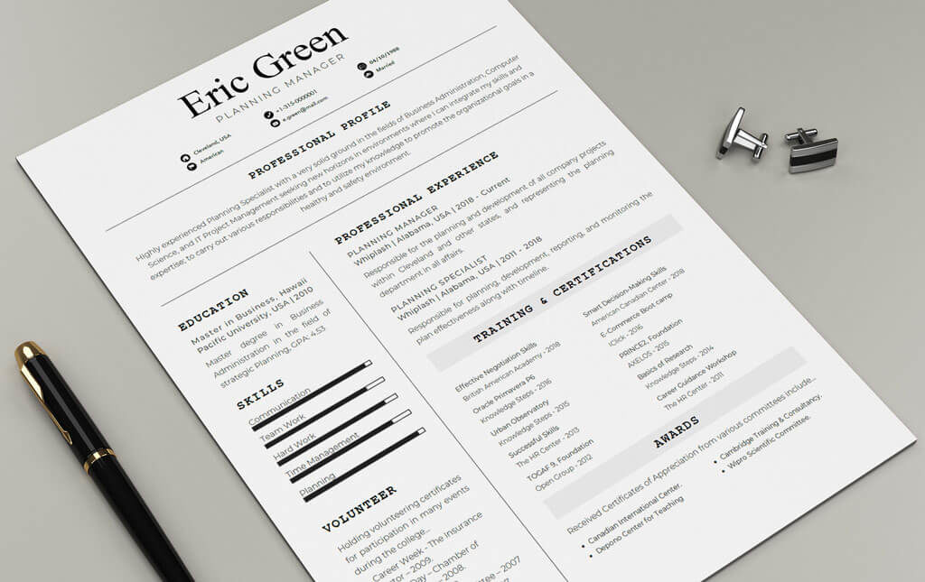 Consilio-Resume-Template_Closeup