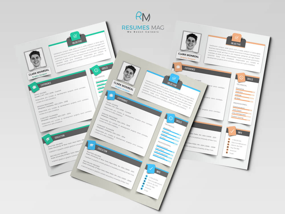 Sombra Modern English Resume Template_3 Samples