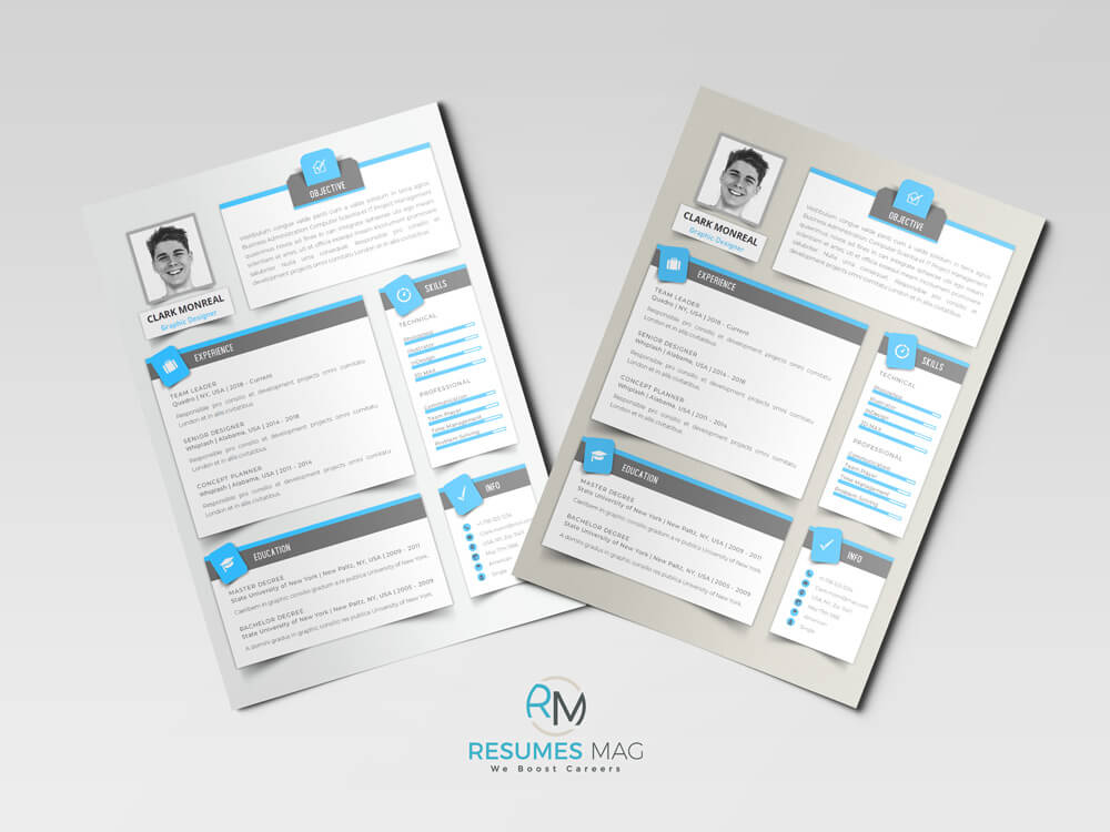 Sombra Modern English Resume Template_2 Samples Above