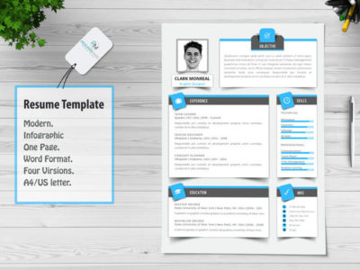 Sombra Modern English Resume Template